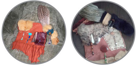 Medicine Bag and Feather Fans